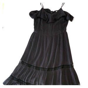 Ann Taylor Loft Black Midi Dress